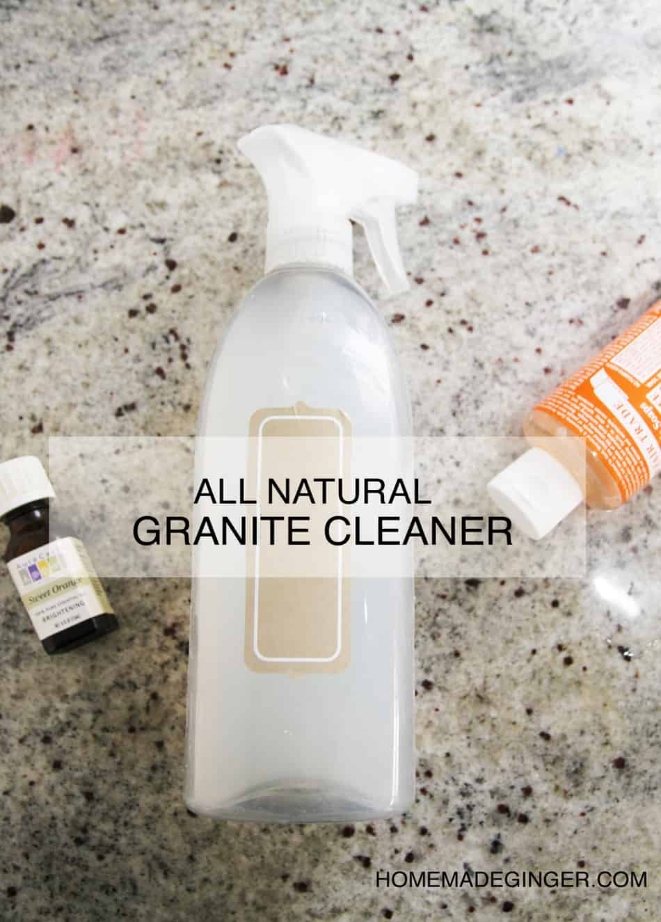 Natural Way To Clean Granite Countertops Homemade Granite Cleaner Homemade Ginger