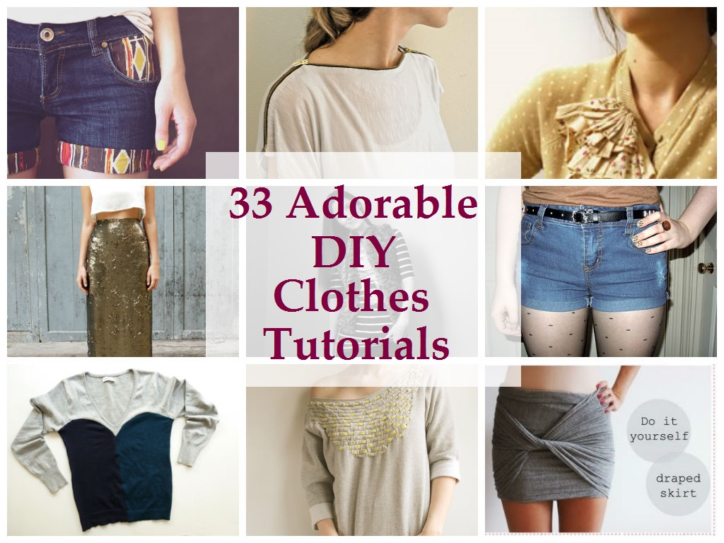 Diy Clothes For Summer 33 Adorable Diy Clothes Tutorials