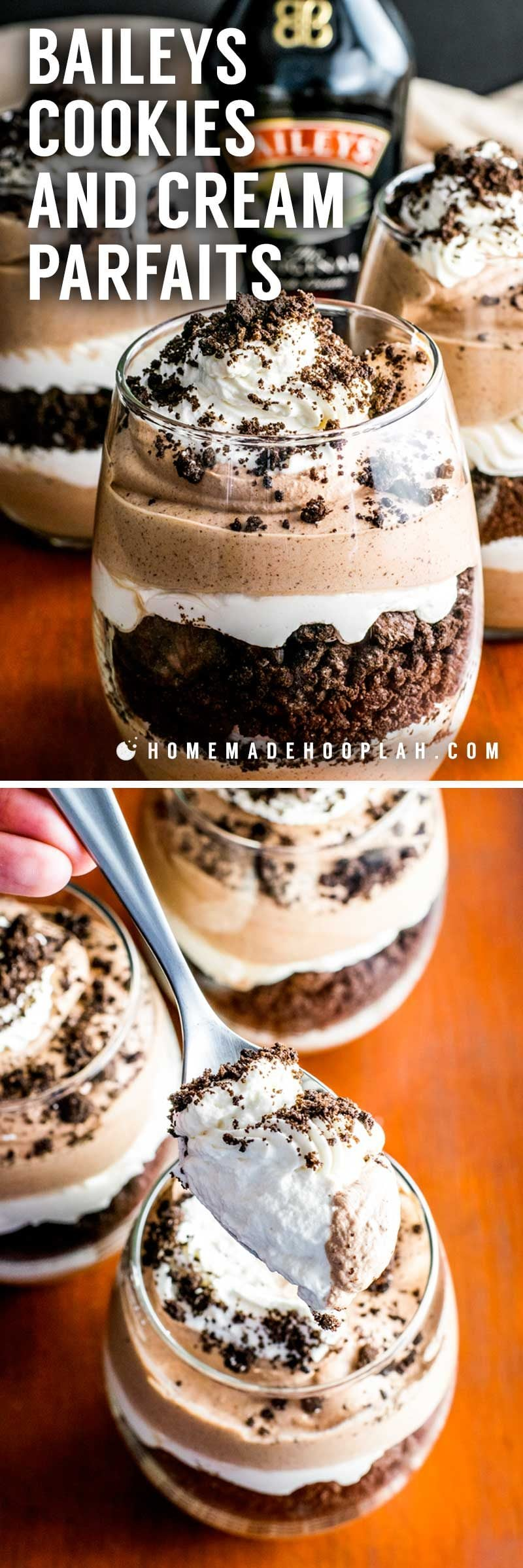 Cookie Nachtisch Baileys Cookies And Cream Parfaits Homemade Hooplah
