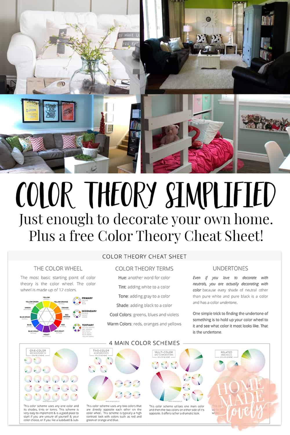 Color Theory Simplified Free Printable Cheat Sheet