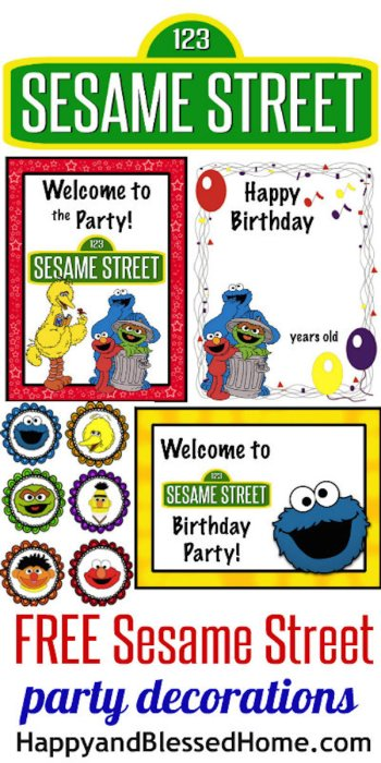 Homemade Parties_DIY Party_Sesame Street Printables01