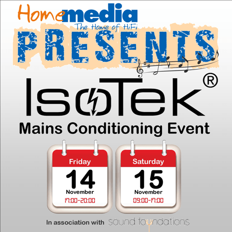 IsoTek Mains Conditioning Event – 14/15 November 2014