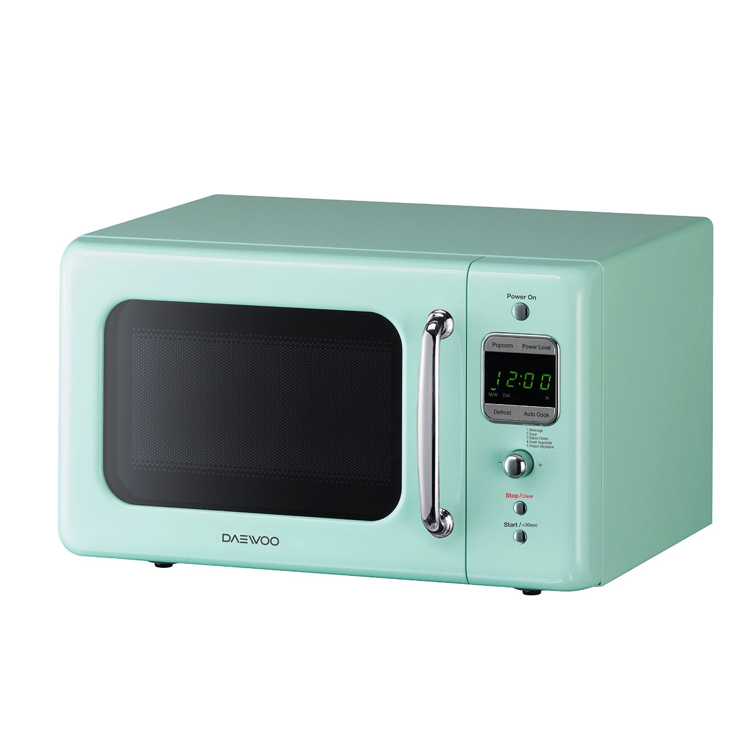 Magic Chef 0.7 Cu Ft Countertop Microwave Daewoo Retro Mint Green Microwave Oven Small 7 Cu Ft