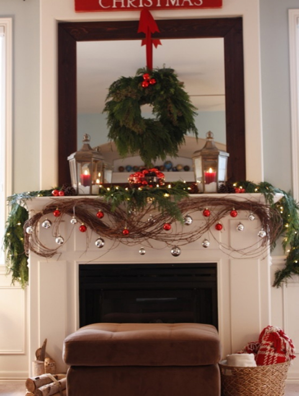 christmas-fireplaces-ornament-ideas - christmas fireplace decor