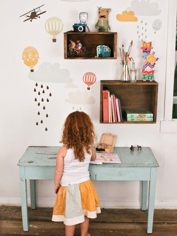 Modern Home Office Design Cute-desk-space-for-kids