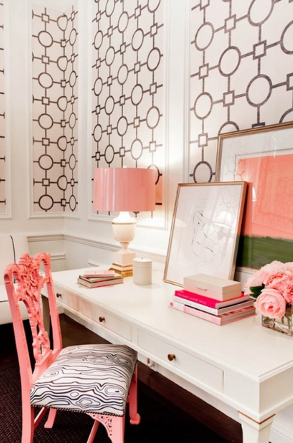 Living Room Ideas 17-pink-and-cute-office-design-for-girl