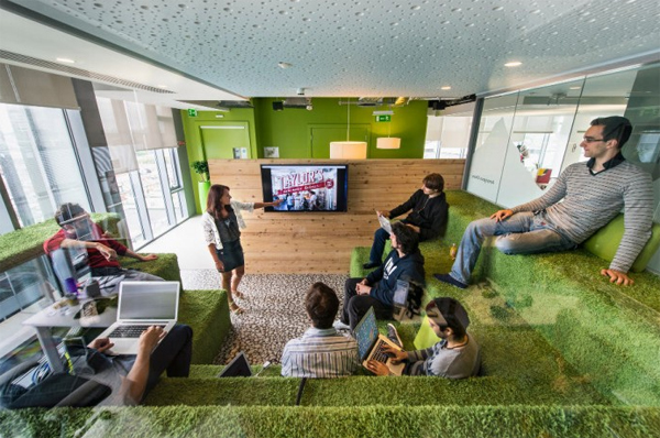 Latest google office picture with green sace