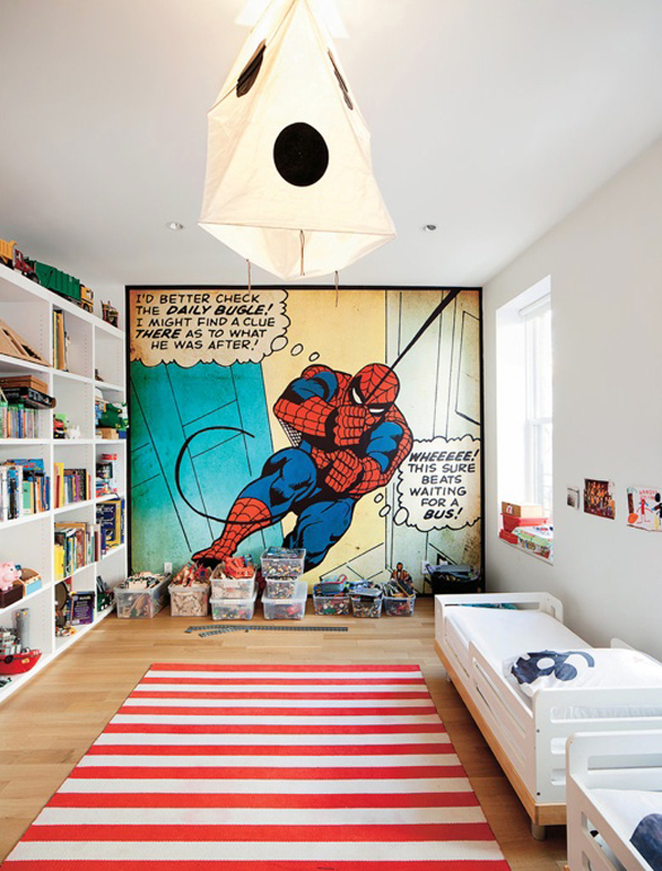 Kids Bedroom Furniture Kids-bedroom-design-with-spiderman-themes