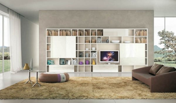 Modern Living Rooms with Shelving Storage Units Home Design And - living room shelves