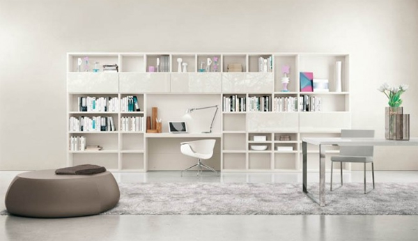 Modern Living Rooms With Shelving Storage Units Home