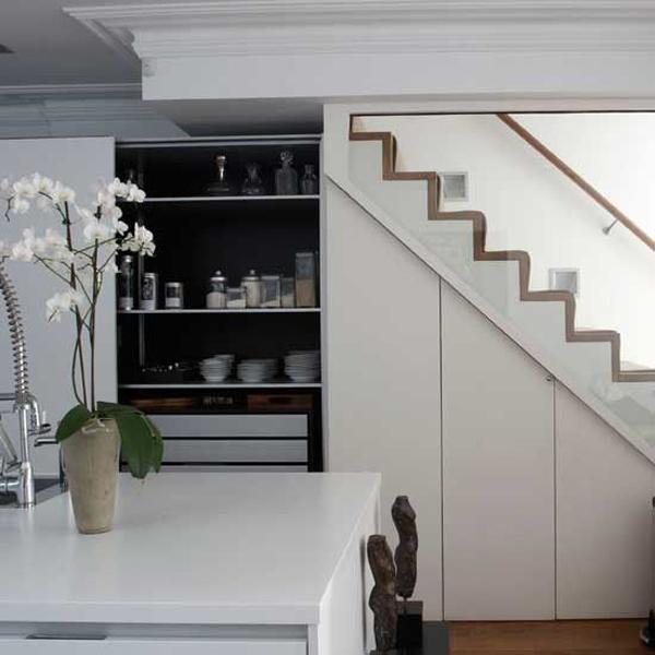 kitchen-storage-understairs - under stairs kitchen storage