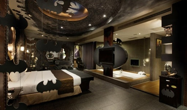 Dark Bedroom Design with Batman Themes Home Design And Interior - dark bedroom ideas