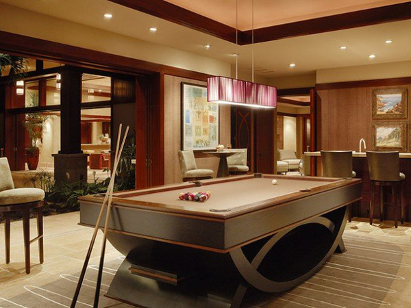 Billiard-Table-In-Living-Room-Decor