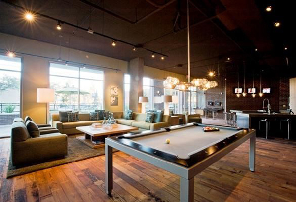 Cool billiard room decoration