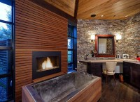 21 Stylish Bathrooms With Fireplaces | Home Design And ...