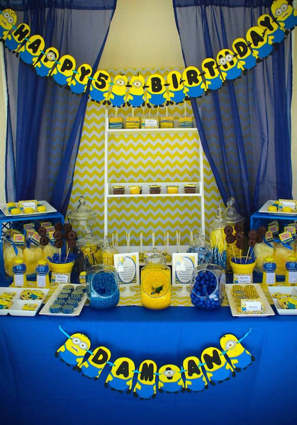 20 Cute Minions Birthday Party Ideas Home Design And Interior - birthday party design