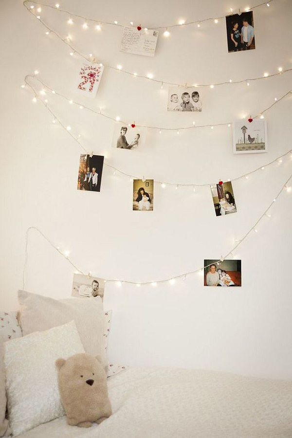 Tiener Kamer Diy-photo-wall-string-lights