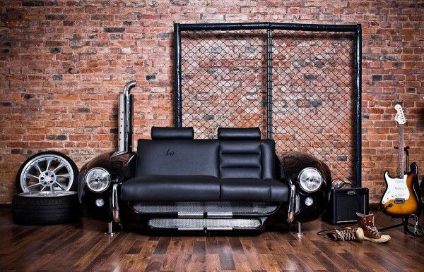 Sofa Design Bedroom Cool-old-car-part-recycle-for-music-studio