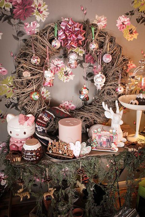 Wallpaper Hello Kitty Pink Cute 20 Pretty Christmas Decor With Hello Kitty Theme Home
