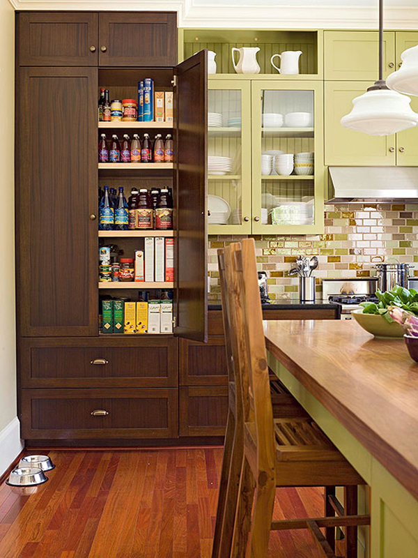 Kitchen Pantry Ideas Modern-kitchen-pantry-with-wooden-cabinet