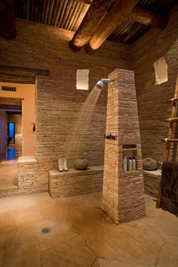Home Chairs Natural-bathroom-with-stone-ideas