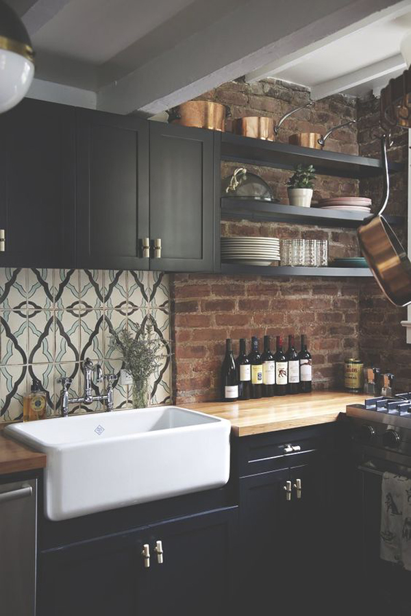 How To Fit Kitchen Wall Cabinets 20 Minimalist Kitchens With Exposed Brick Walls | Home