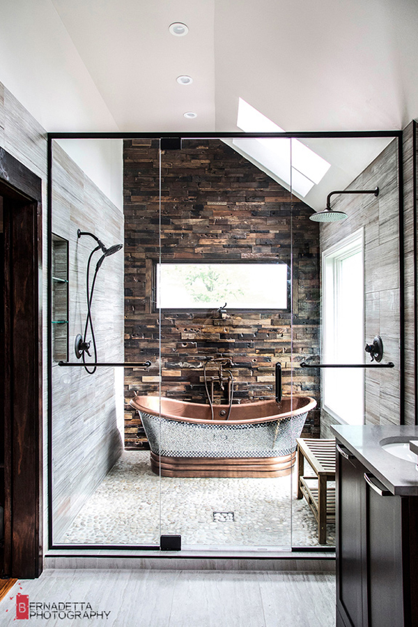 Modern Bathroom With Rustic Elements Homemydesign