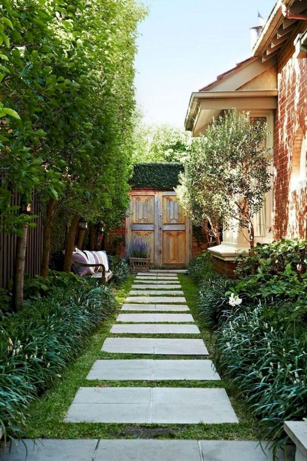 Beautiful Side House Garden And Pathways Landscaping Ideas