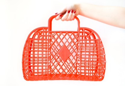 sac de courses retro rouge sun jellies dorothy lightweight basket red