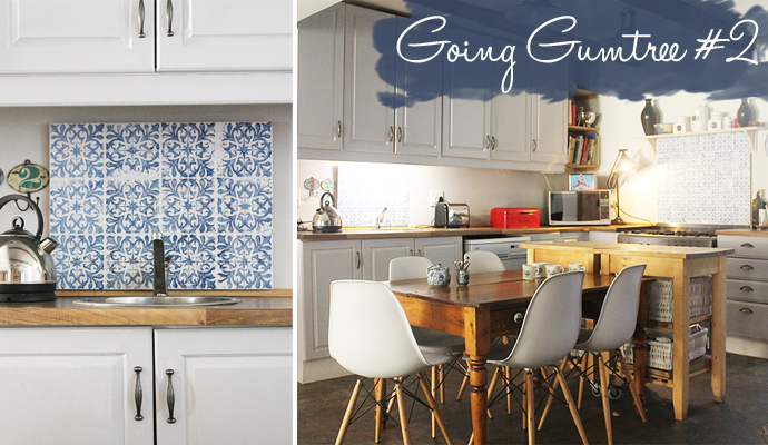 My gumtree house kitchen make over on a budget homeology for Kitchen cabinets gumtree