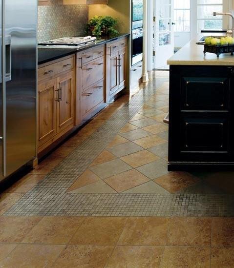 Kitchen floor tile patern designs