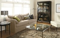 simple design living room cabinets with glass doors