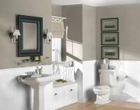 Calm color combination for bathroom | Home Interiors