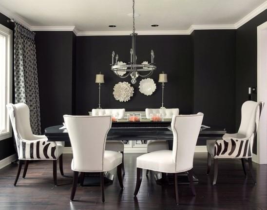 Black Painted Room Designs 2017 - Grasscloth Wallpaper