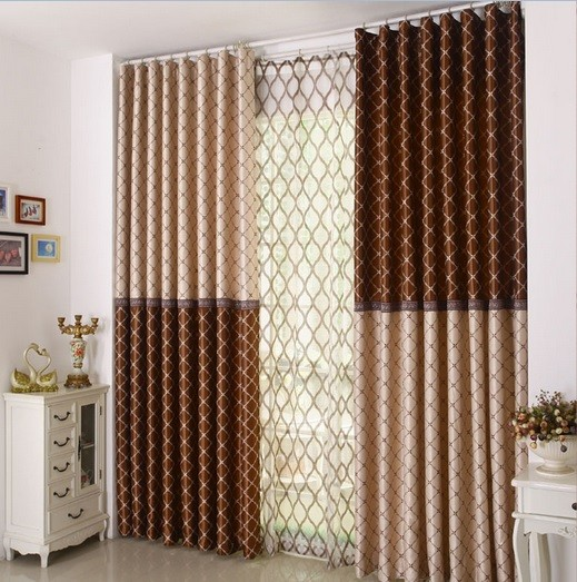Combination curtains colors for patio doors
