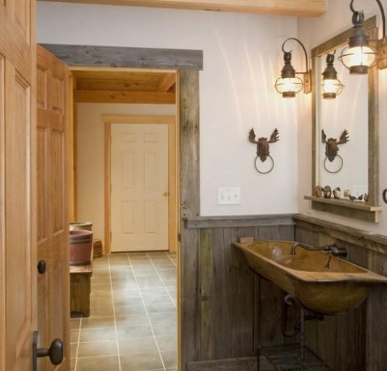 Rustic Bathroom Lighting Ideas Home Interiors - rustic bathroom lighting ideas