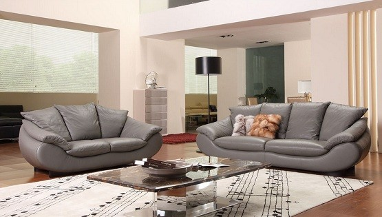 Chic Sense with Leather Living Room Furniture Sets Home Interiors - gray living room furniture sets