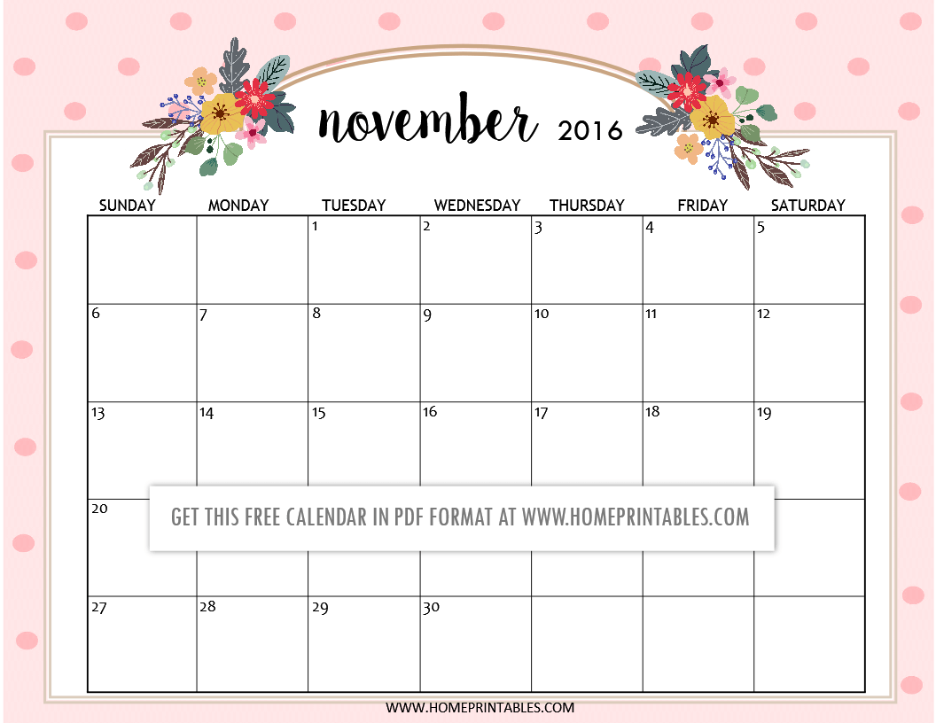 Cute Calendar Printable : Cute free printable calendars home printables