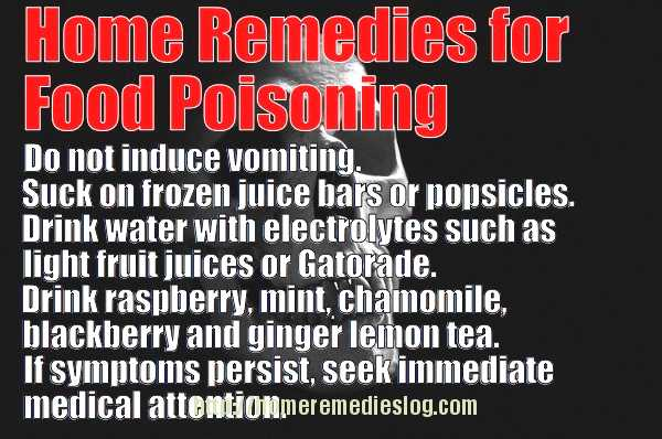 Home Remedies For Food Poisoning - Tips, Tricks and Treatments