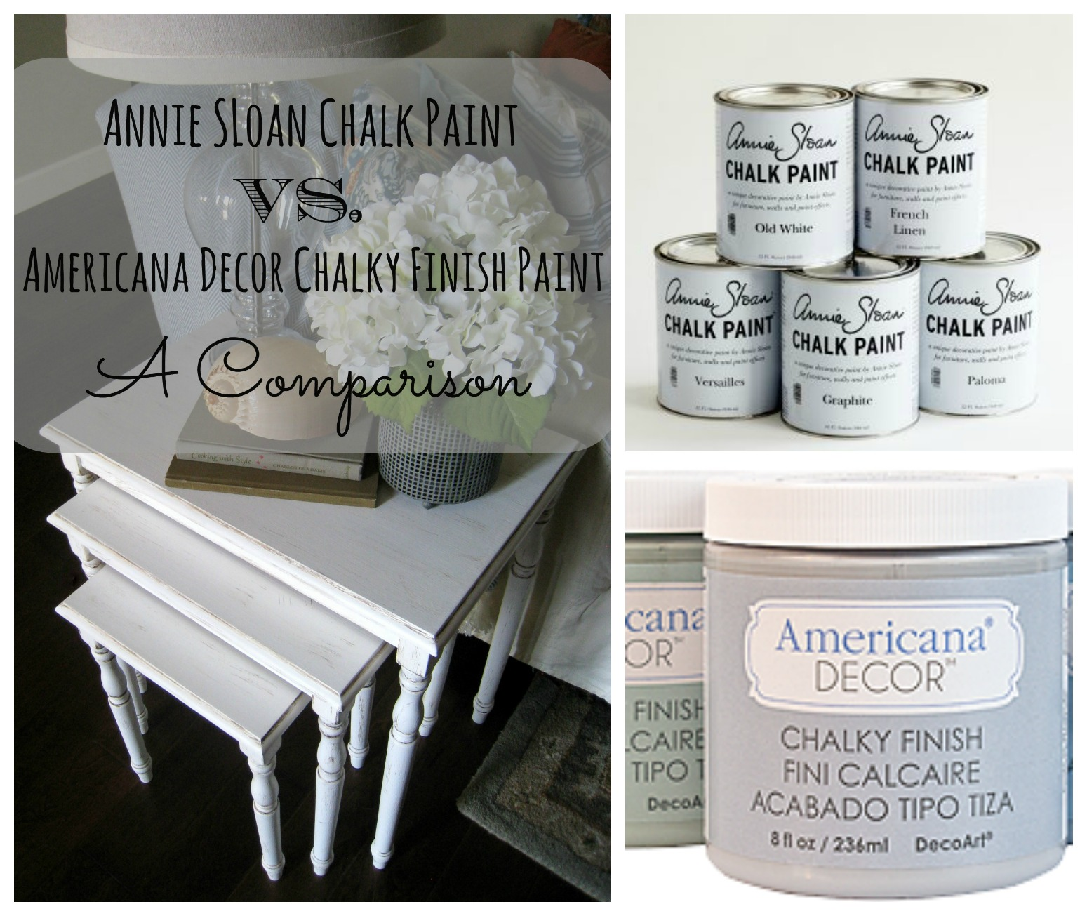 Americana Decor Chalky Finish Annie Sloan Chalk Paint Vs Americana Decor Chalky Paint