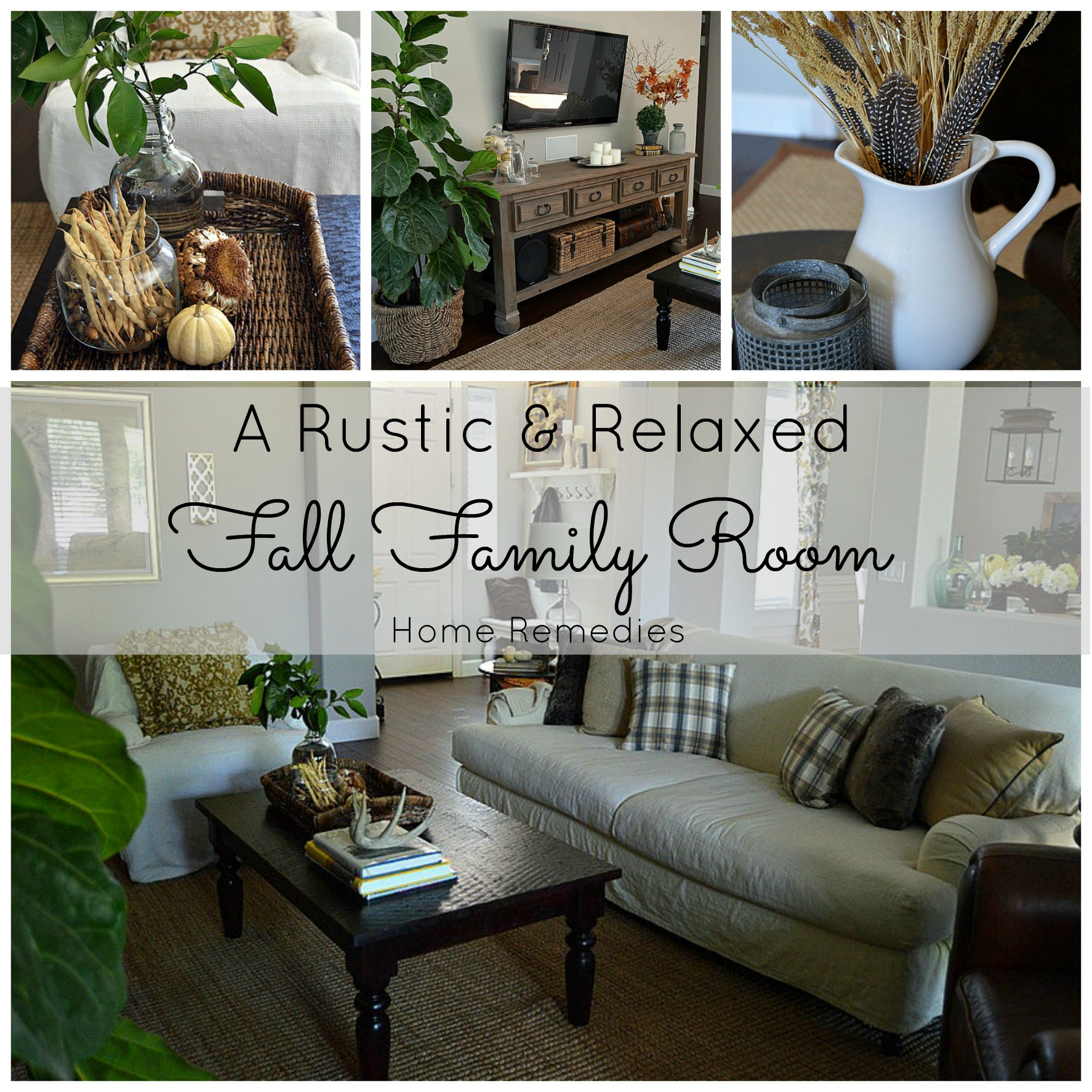 Rustic Family Room Rustic And Relaxed Fall Family Room Tour