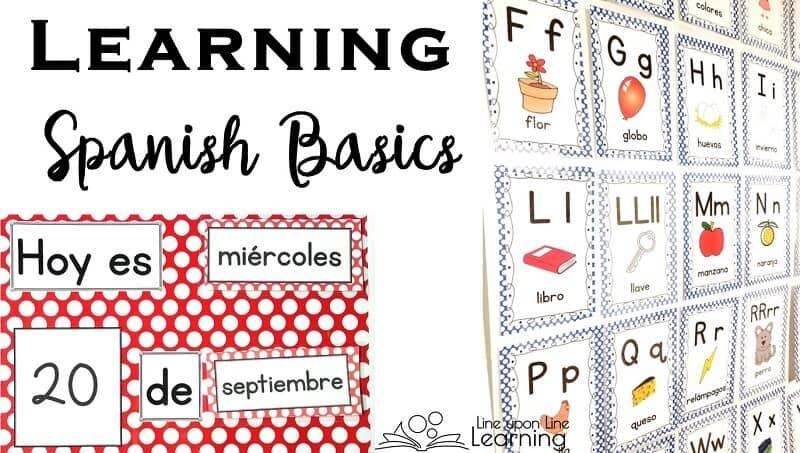 Spanish Basics Spanish Alphabet and Spanish Calendar Chart \u2013 Line