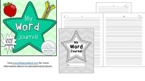Word Journal with Primary-Grade Lines (full letter-sized pages