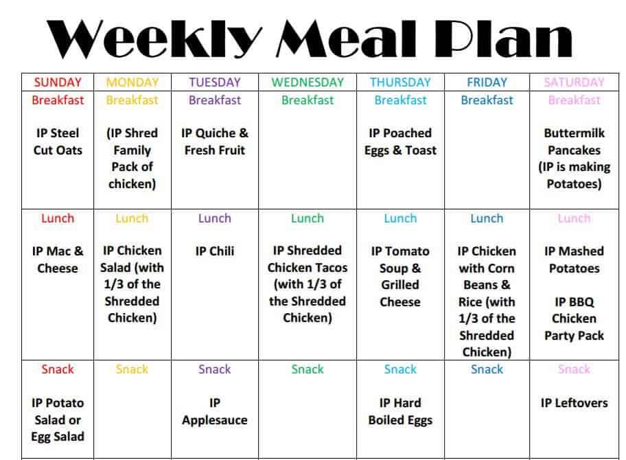 meal plan weekly - Jolivibramusic