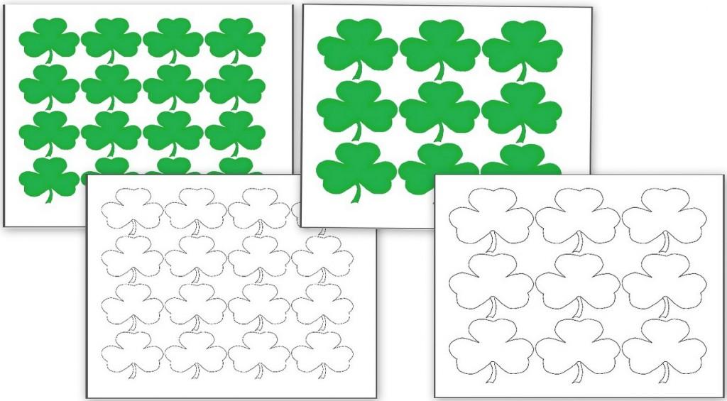 Fun Educational St Patricku0027s Day Activities - Homeschool Den - shamrock template