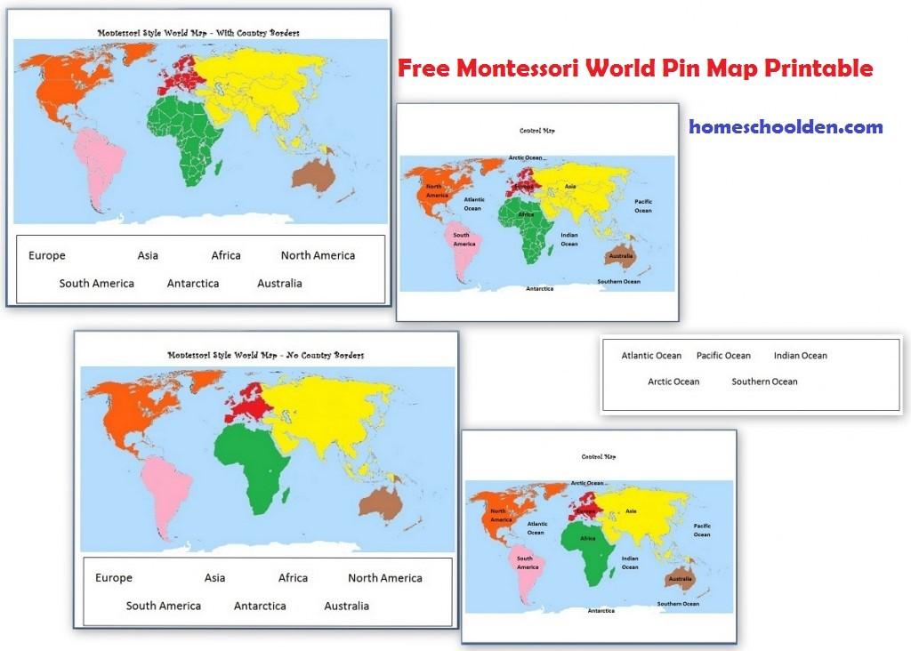 Montessori Geography Activities (Free Montessori World Map