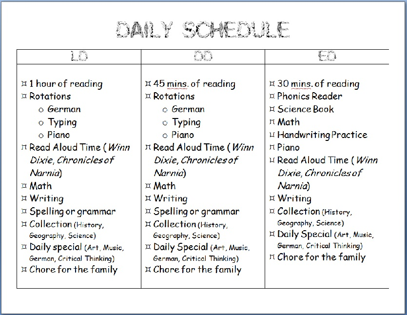homeschool schedule Archives - Homeschool Den