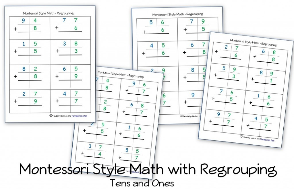 Free Montessori Style Addition Sheets (And Place Value Activities - place value unit