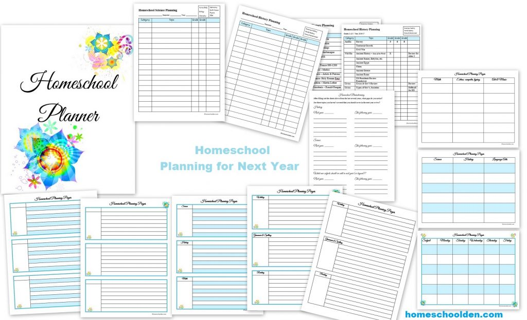 school year day planner