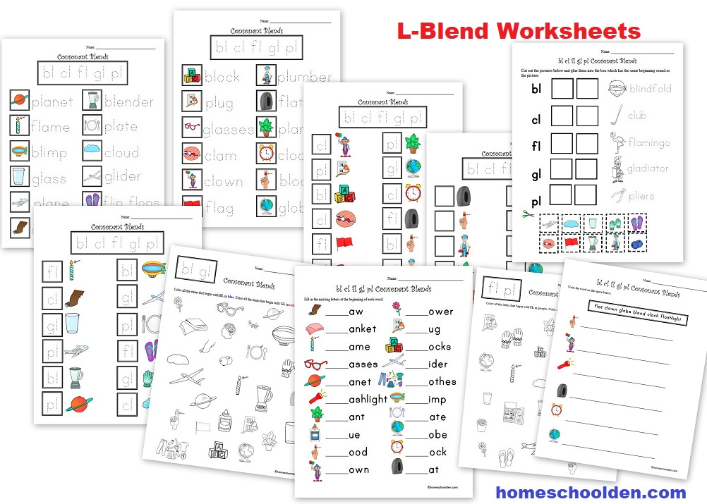 L-Blend Worksheets, Games and Activities - Consonant Blends